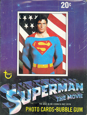 SUPERMAN THE MOVIE SERIES 1 1978 TOPPS WAX TRADING CARD BOX