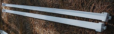 "Two Antique Painted Square Pin End 3/4"" x 3/4"" Iron Bed Rails (SQP)"