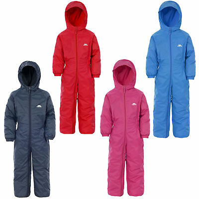 Kids Trespass DripDrop Padded Waterproof All In One Snow / RainSuit