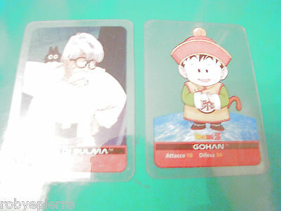 2 Carte cards lamincards edibas DRAGON BALL Z 2006 Gohan 11 padre di Bulma 93