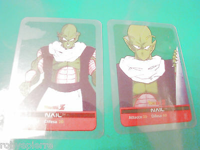 2 Carte card cards lamincards edibas DRAGON BALL Z 2006 Nail 90 92 trasparenti