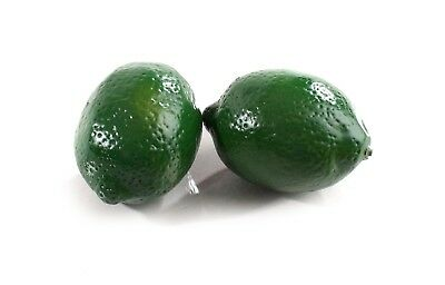 2 Large Best Artificial Limes Decorative Realistic Fruit New