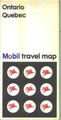 1975 Mobil Ontario/Quebec Vintage Road Map