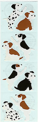 4 Strips Grossman/'s Stickers Puppies Brown Dogs Mrs Dalmation Pups