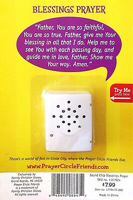 Inspirational 'Blessings Prayer' Spiritual Sound Module for Stuffed Toys NEW