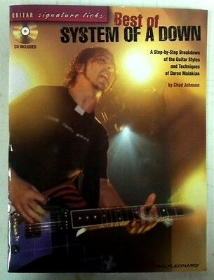 Best of System Of A Down Guitar Signature Licks Book w/ CD