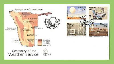 Namibia 1991 Centenary of Weather Service set First Day Cover