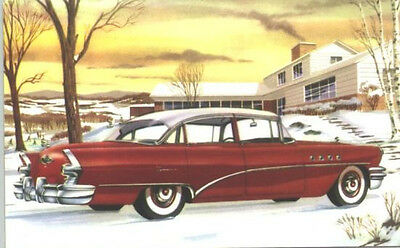1955 Buick Super Riviera Sedan  Advertising Postcard