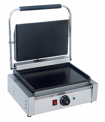 NEW Commercial Panini Machine, Contact Grill Toaster, Sandwich Maker flat/flat