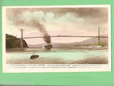#c.   Shipping  Postcard - Steamer Under Lions Gate Bridge, Vancouver, Canada
