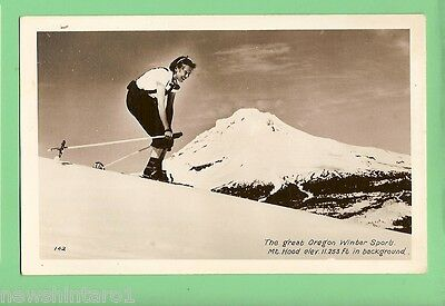 #c.    Skiing  Postcard - Mt Hood, Oregon, Usa
