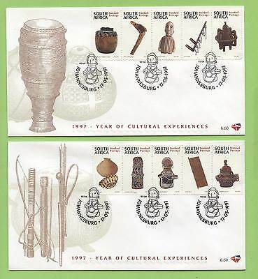 South Africa 1997 Cultural experiences set on two First Day Covers