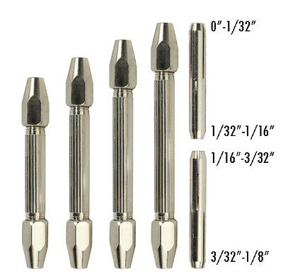 DOUBLE END PIN VISE 6pc SET LOOK CLOSELY MILLED FROM SOLID BAR STOCK  ROCK SOLID