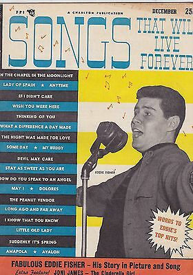 DEC 1954 SONGS THAT LIVE FOREVER vintage music magazine EDDIE FISHER