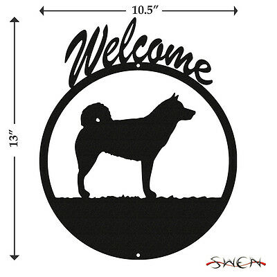 Alaskan Malamute Black Metal Welcome Sign *NEW*