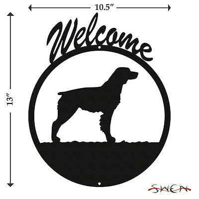 Brittany Black Metal Welcome Sign *NEW*