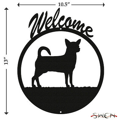 Chihuahua Black Metal Welcome Sign *NEW*