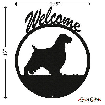 English Springer Spaniel Black Metal Welcome Sign *NEW*