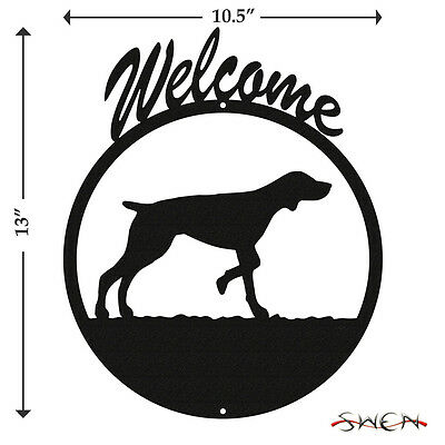 German Shorthaired Black Metal Welcome Sign *NEW*