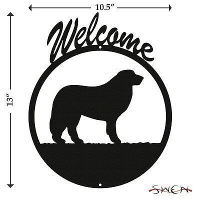 Great Pyrenees Black Metal Welcome Sign *NEW*