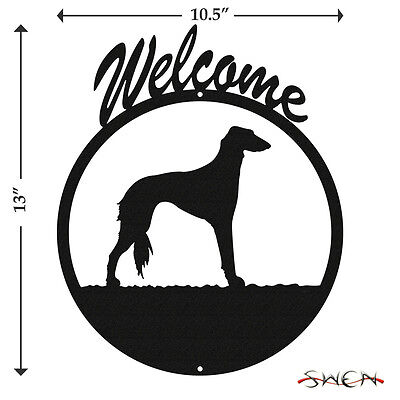 Saluki Black Metal Welcome Sign *NEW*