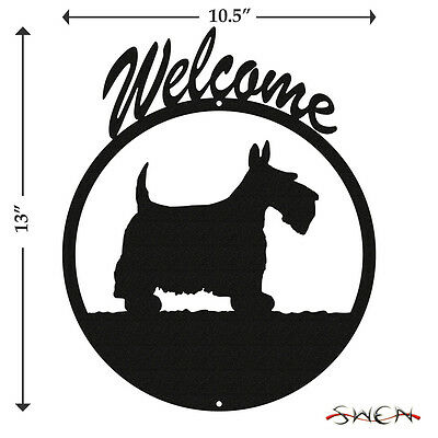 Scottish Terrier Black Metal Welcome Sign *NEW*