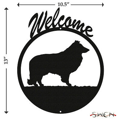 Sheltie Black Metal Welcome Sign *NEW*