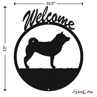 Shiba Inu Black Metal Welcome Sign *NEW*