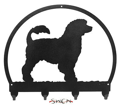 Portuguese Water Dog Metal Key or Leash Hanger *NEW*