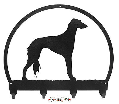 Saluki Dog Metal Key or Leash Hanger *NEW*