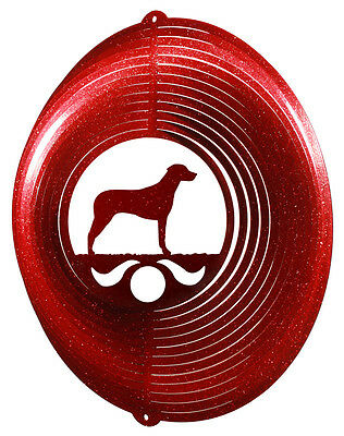 Rhodesian Ridgeback RED Metal Swirly Sphere Wind Spinner *NEW*