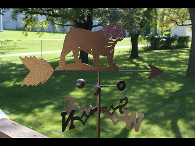 Hand Made English Bulldog Dog Weathervane *NEW*