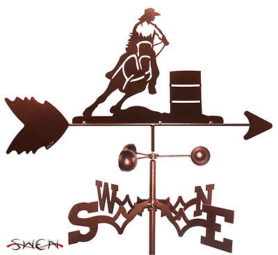Hand Made Barrel Racer Rodeo Weathervane *NEW*