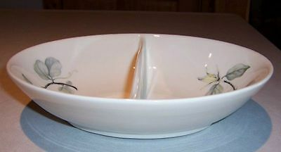 Peter Terris - Shenango China - White Lily- Oval Vegetable Divided Dish Bowl