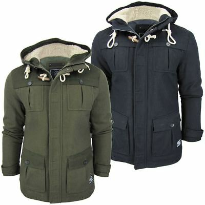 Mens Wool Winter Jacket Fashion Millitary Melton Coat by Dissident
