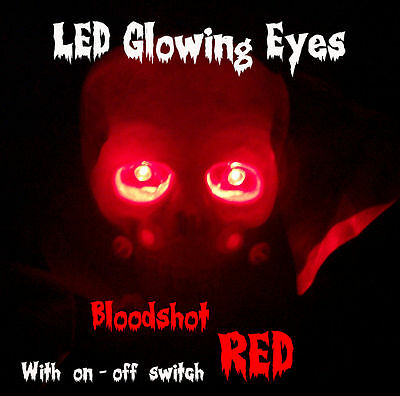 LED GLOWING EYES HALLOWEEN RED 5MM 9V ON/OFF SWITCH