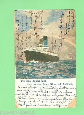 #c.  Shipping  Postcard -  Blue Funnel Line, 1912