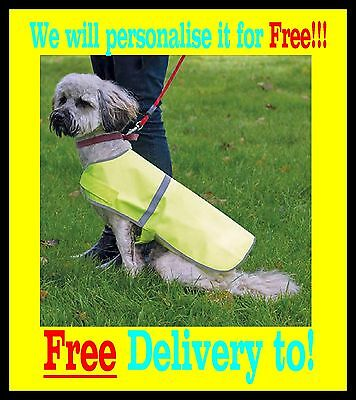 RTY Reflective Dog Coat, FREE delivery and FREE to personalise