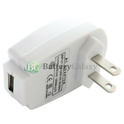 20 HOT! NEW USB Battery Home Wall AC Charger Adapter Universal Power Outlet Plug