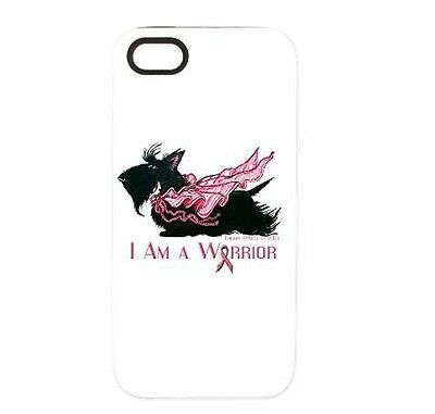 Scottish Terrier Breast Cancer Warrior iPhone 5/5S Tough Case - Cell Phone Cover