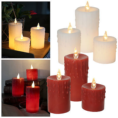 3er set led kerze mit timer f r au en outdoor kerzen flammenlos candle flackernd eur 10 79. Black Bedroom Furniture Sets. Home Design Ideas