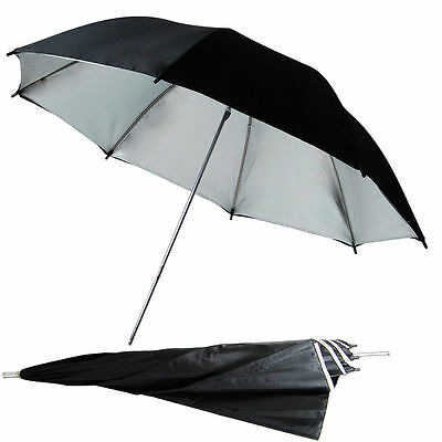 "33"" 83cm photography Pro Studio flash Reflector Black Silver Umbrella"