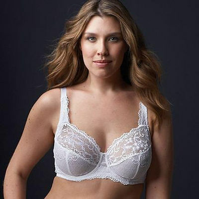 NEW COMFORTABLE GRENIER 8479 UNDERWIRE FIRM SUPPORT SMOOTH SHAPING WHITE BRA