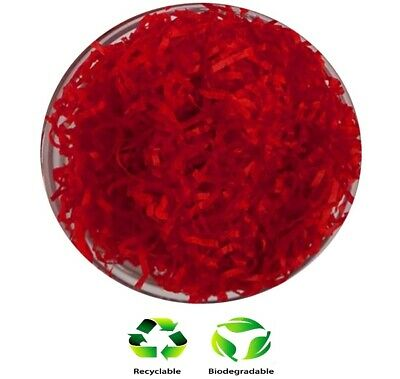 1KG Red - Hamper Shred Gift Box Packaging - Soft Recyclable Shredded Tissue