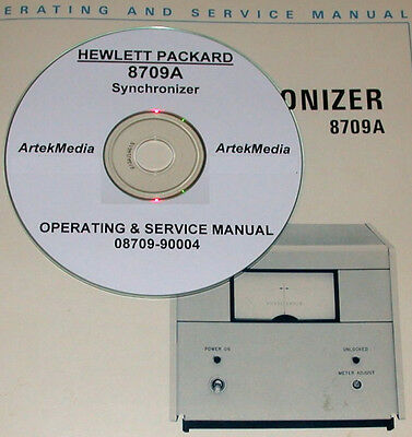 Hp  8709A Synchronizer Operating And Service Manual