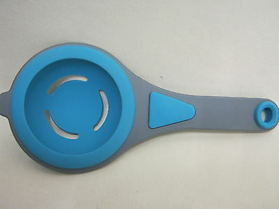 New Colour Works Silicone Egg Separator Separate Whites And Yolks Aqua Blue