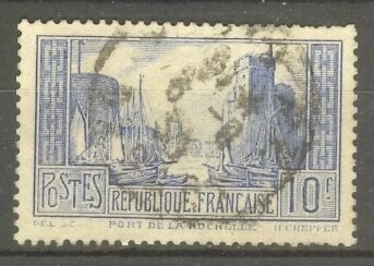 """FRANCE STAMP TIMBRE N° 261b """" PORT LA ROCHELLE 10F OUTREMER PALE """" OBLITERE TB"""