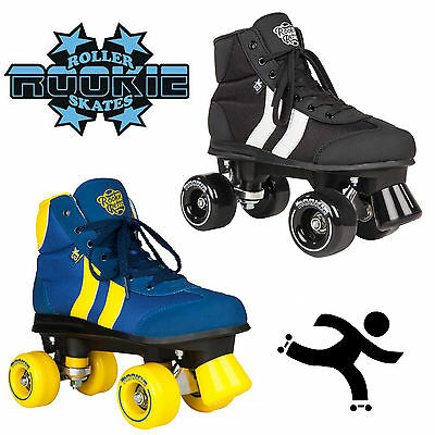 New Rookie Retro Unisex Kids Adults Red Yellow Blue Wheels Roller Skates Uk Size
