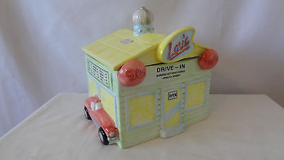 Omnibus Fitz and Floyd 1993 Lou's Drive - In With a Corvette Cookie Jar #F652