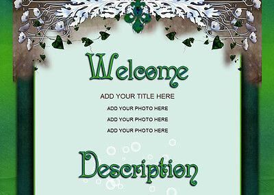 MAGIC FLORAL eBay Auction Template colorful EASY copy paste HTML CODE